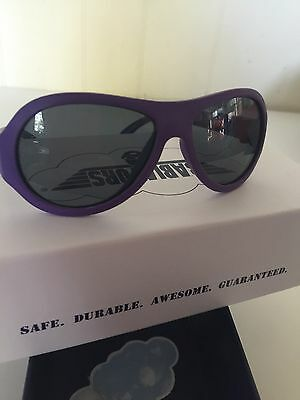 babiators sunglasses Purple With Box Preowned Ages 0-3