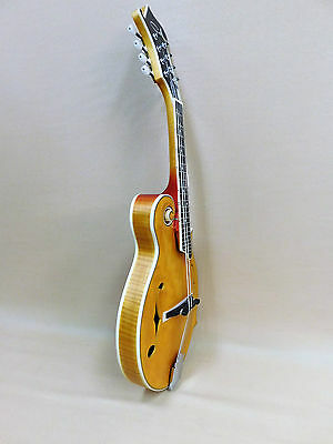 Caraya SMA-938 Premium All-Solid Carved F-Style Mandolin - Vintage Stained