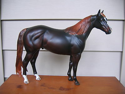 Peter Stone ideal stock horse ISH OOAK FCM dark liver chestnut DAH