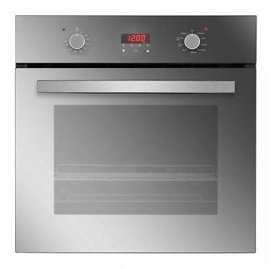 """Empava 24"""" Tempered Glass Electric Push Buttons W/ LED Display Single Wall Oven"""