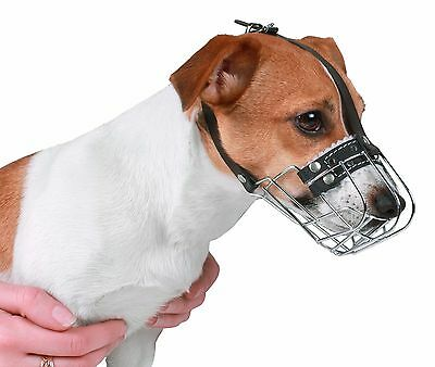 Wire Basket Jack Russell Terrier Dog Muzzle Metal Leather Adjustable