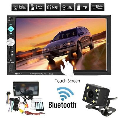 7'' Touch 2Din Car Radio MP5 Bluetooth Player Audio In-Dash Head Unit +Camera AU