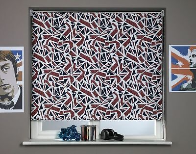 Sunlover THERMAL BLACKOUT Roller Blinds. British Union Jack. Sizes 60 or 90cm