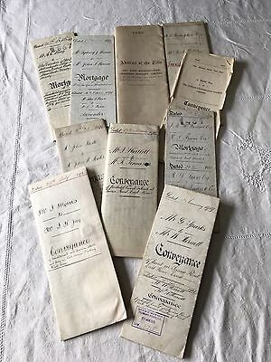 Antique C19th & Early C20th Deeds Conveyance Documents East London Essex