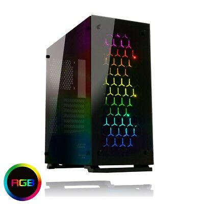 Game Max Onyx RGB Mid Tower ATX 3 x RGB Fans Tempered Glass Sides & Front USB 3