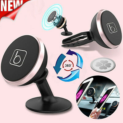 Magnetic Car Mount Kit Sticky / Air Vent Stand Holder For Mobile Cell Phone GPS