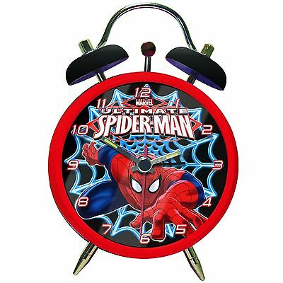 Marvel Spiderman Twinbell Alarm Clock Bedside New