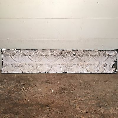 "1 - 42"" x 9"" Antique Ceiling Tin Tile Vintage Reclaimed Salvage Re Purpose Art"
