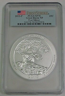 2013-P Great Basin NP 5 oz Silver ATB 25C - PCGS SP 70 First Strike
