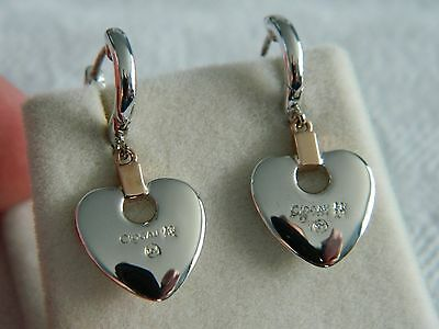 Clogau Silver & 9ct Welsh Gold Cariad Heart Drop Earrings RRP £139.00