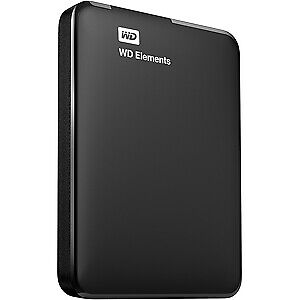 WD Elements 1TB USB 3.0 High-Capacity Portable Hard Drive for Windows