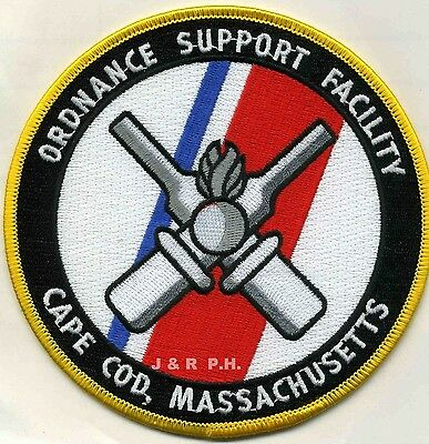 "USCG Coast Guard Patch - Ordnance Support Facility, Cape Cod (5"" round) (fire)"