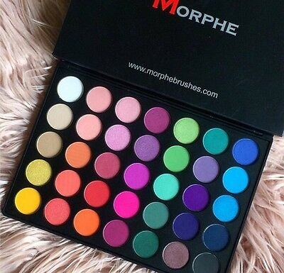 Morphe Brushes - 35B - 35 Color Glam Eye Shadow Palette 100% Genuine!