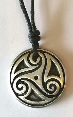 Celtic The Path of LifePewter Pendant on Cord.