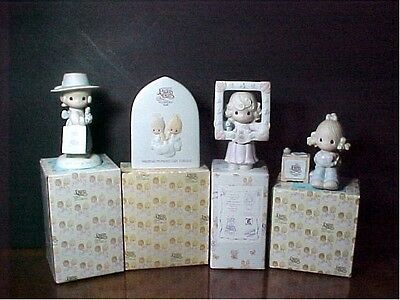 Precious Moments  Set of 4 Club pieces from the 1980's and 1990's MIB