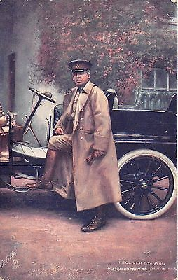 POSTCARD  CELEBRITIES  OF  THE  MOTORING  WORLD  Oliver Stanton   TUCK