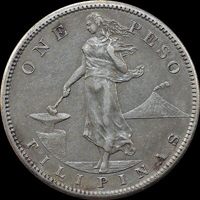 1908-S US-Philippines 1 (ONE) PESO