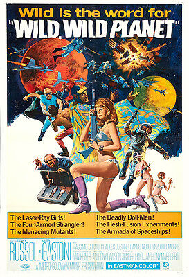Wild, Wild Planet Movie Poster Print - 1966 - Science Fiction - 1 Sheet Artwork