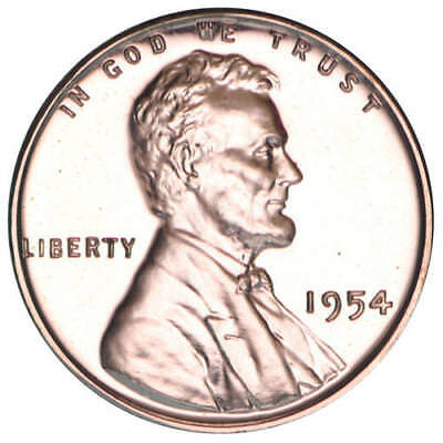 1954 Lincoln Wheat Cent Gem Proof Penny