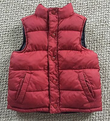 Boys Gymboree Red Vest Size Small 5-6