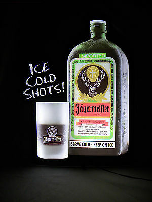 Jagermeister  Light Up Sign Ice Cold Shots Man Cave!