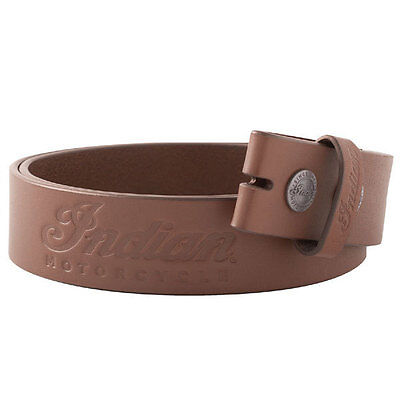 Indian Motorcycle IMC Leather Belt Strap Brown