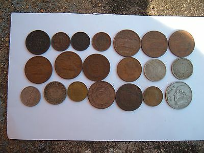 Lot of 20 Better Date/Condition Mexican Coins.