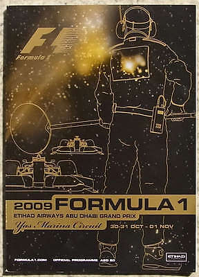 ABU DHABI GRAND PRIX 2009 FORMULA ONE F1 YAS MARINA Official Race Programme