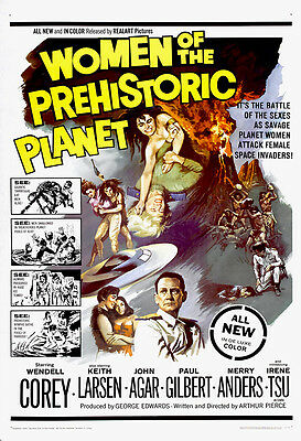 Women Of The Prehistoric Planet Movie Poster Print - 1966 - Sci-Fi - 1 Sheet Art
