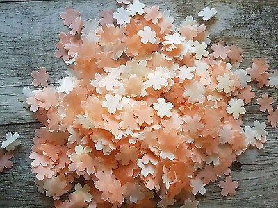 Peach And Ivory Cherry Flowers  Wedding Throwing Confetti/decoration 2 Handfuls