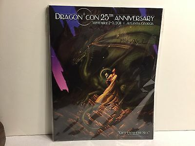 Dragon Con 25th Anniversary Guide Signed by Michael Whelan, Sealed in Plastic