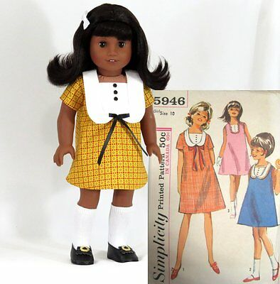 """1960s 5 pc Dress Set for American Girl Melody 18"""" Doll"""