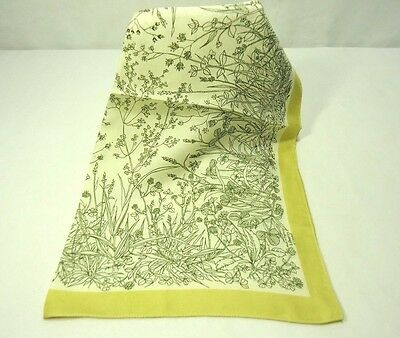 "Vintage Liberty of London Silk Scarf Botanical Pattern 17"" Square"