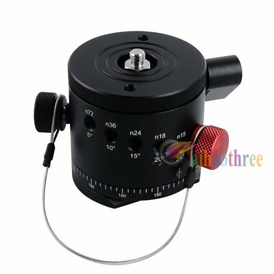 DH-55D Panoramic Panorama Indexing Rotator Head For Tripod Head Camera Shooting