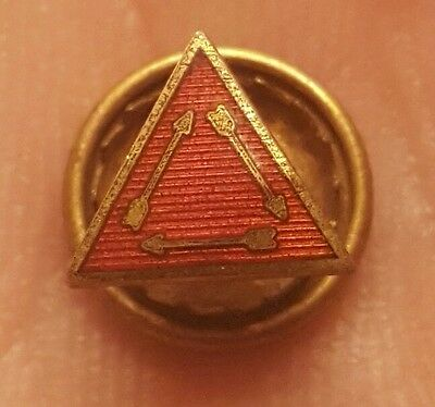 Rare Vintage Boy Scouts Order Of The Arrow Gold Filled Enameled Screwback Pin