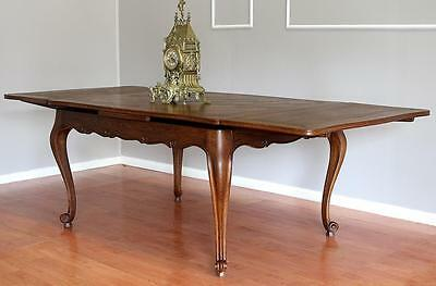 Antique  French Louis XV 2 Leaf Extension Dining Kitchen Table 8-10 seats Oak