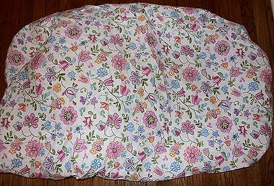 POTTERY BARN KIDS 100% Cotton Multi-Color Pink Floral Crib Fitted Sheet Girls
