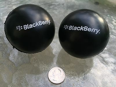 BlackBerry (RIM) Logo Stress Ball Combo (2 PACK) * SWAG * Promo * TeamBlackBerry