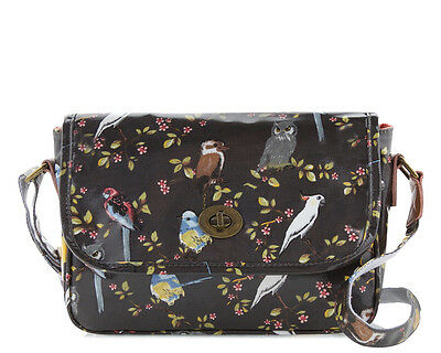 Ladies Oilcloth Crossbody handbag purse Australian bird cockatoo coated cotton