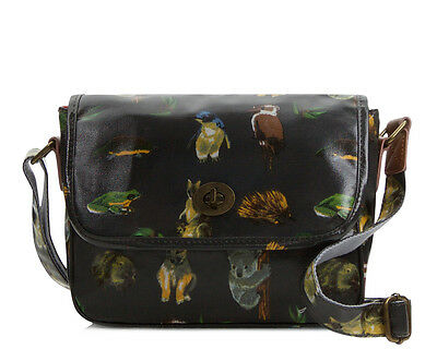 Womens Oilcloth Crossbody Shoulder hand bag Australian animal koala kangaroo