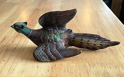 Vintage Lefton China Ceramic Ring Neck Pheasant Wall Hanging