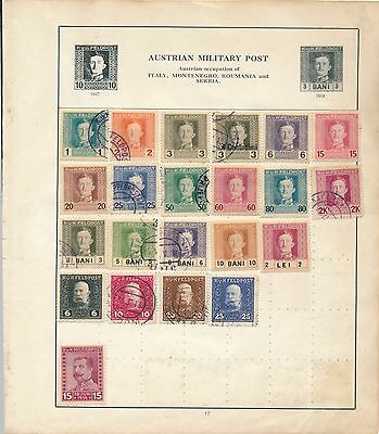 Austria stamp early Austro Hungarian empire Military post collection
