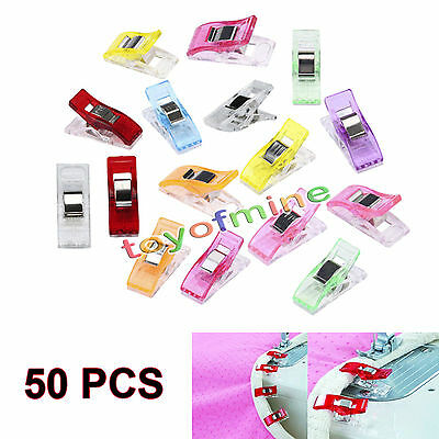 20/50pcs Plastic Quilter Holding Wonder Clips Sewing Accessories Quilt Binding