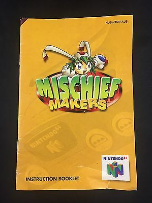 Mischief Makers - Nintendo 64 Instruction Booklet - N64 Manual (Condition B)
