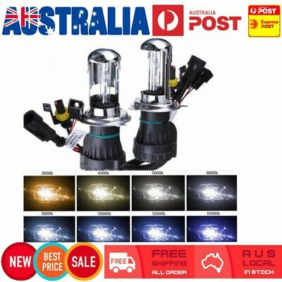 55W HID Xenon H4 Hi/Low Bi-Xenon Globe Bulb Replacement Headlight 6000K 8000K AU
