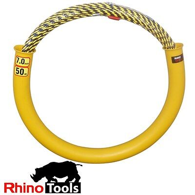 50 metre X 7mm Conduit Snake  Cable puller rodder electricians fish tape