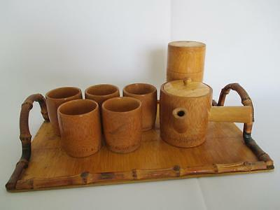 Japanese vintage bamboo tea set/ very tasteful/ rare/ tea ceremony/ 6229