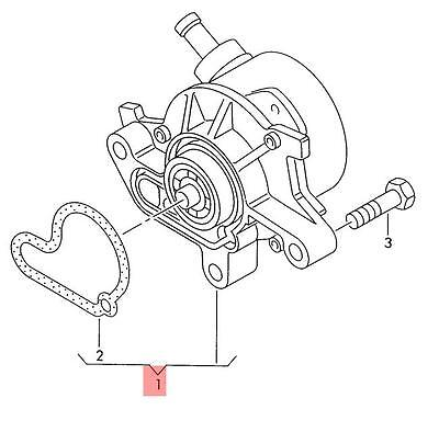 Genuine Vacuum Pump Vw Beetle Golf R32 Gti Rabbit Jetta Variant 1c1