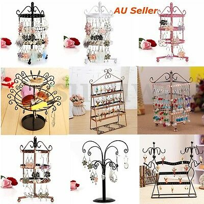 72 96 Hole Earrings Ear Studs Jewelry Display Rack Metal Stand Holder Showcase