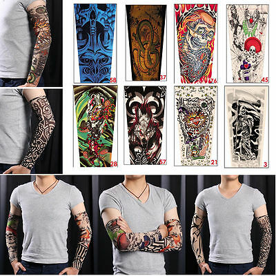 NEW 3 Pairs Slip On Tattoo Arm Sleeve Cover Sun Protection Outdoor Sport Running